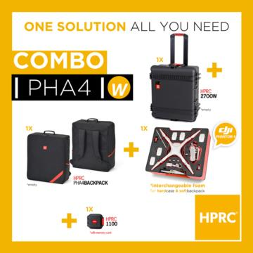COMBO - HPRC2700W + SOFT BAG FOR DJI PHANTOM 4 (INTERCHANGEABLE FOAM)